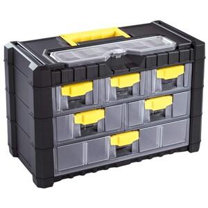 Werkzeugkoffer Multicase mit Kunststoffrahmen und 6 Fächern