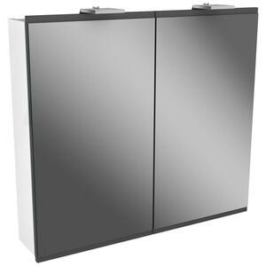 Spiegelschrank in Weiss/Grau mit Drehtüren 'Lima'