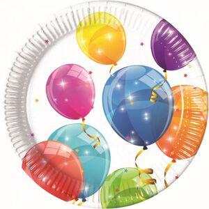8 Partyteller - Luftballons - Ø ca. 23 cm