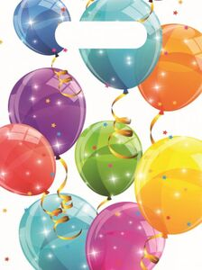 6 Partytüten - Luftballons - ca. 23 x 16 cm
