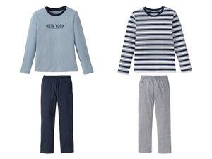 PEPPERTS® Jungen Schlafanzug, 2 Stück, mit Bio-Baumwolle
