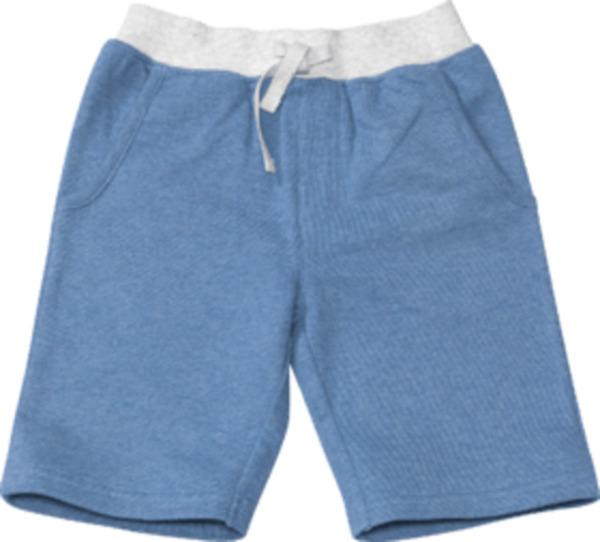ALANA Kinder Shorts, Gr. 104, in Bio-Baumwolle, blau, grau