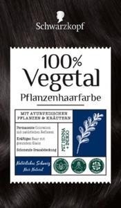 100% Vegetal Pflanzenhaarfarbe Natürliches Schwarz, 1 St.