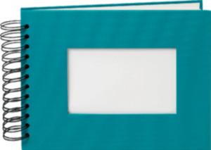 Paradies Profialbum 18x23cm, 50 Seiten türkis, weiße Seiten