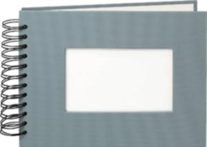 Paradies Profialbum 18x23cm, 50 Seiten grau, weiße Seiten