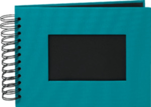 Paradies Profialbum 18x23cm, 50 Seiten türkis, schwarze Seiten