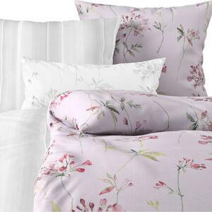 Estella Jersey-Bettwäsche, Blumen, 135x200, eisrosa, 135x200 cm