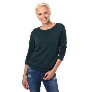 Tom Tailor Denim Sweatshirt, verkürzte Ärmel, Wabenstruktur, für Damen