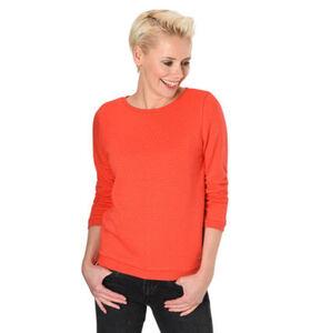 Tom Tailor Denim Sweatshirt, Rippbündchen, Strukturierung, Raffungen, uni, für Damen