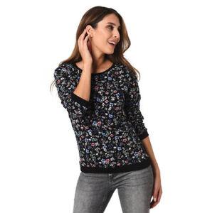 Tom Tailor Denim Sweatshirt, verkürzte Ärmel, floral, für Damen
