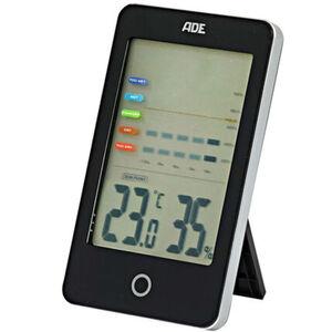 """ADE Hygrometer mit Schimmelalarm """"WS 1701"""", schwarz, schwarz"""