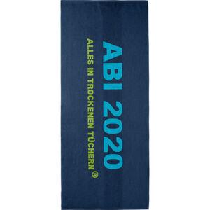 "Egeria Strandtuch ""Abi 2020"", 75x180, dunkelblau, 075x180 cm"