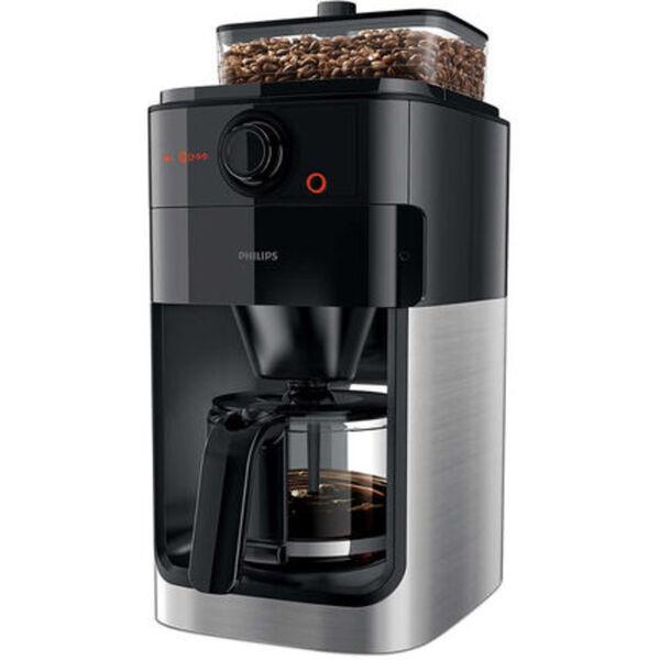 Philips Kaffeeautomat HD7767/00 mit Mahlwerk, schwarz/silber, schwarz/Metall