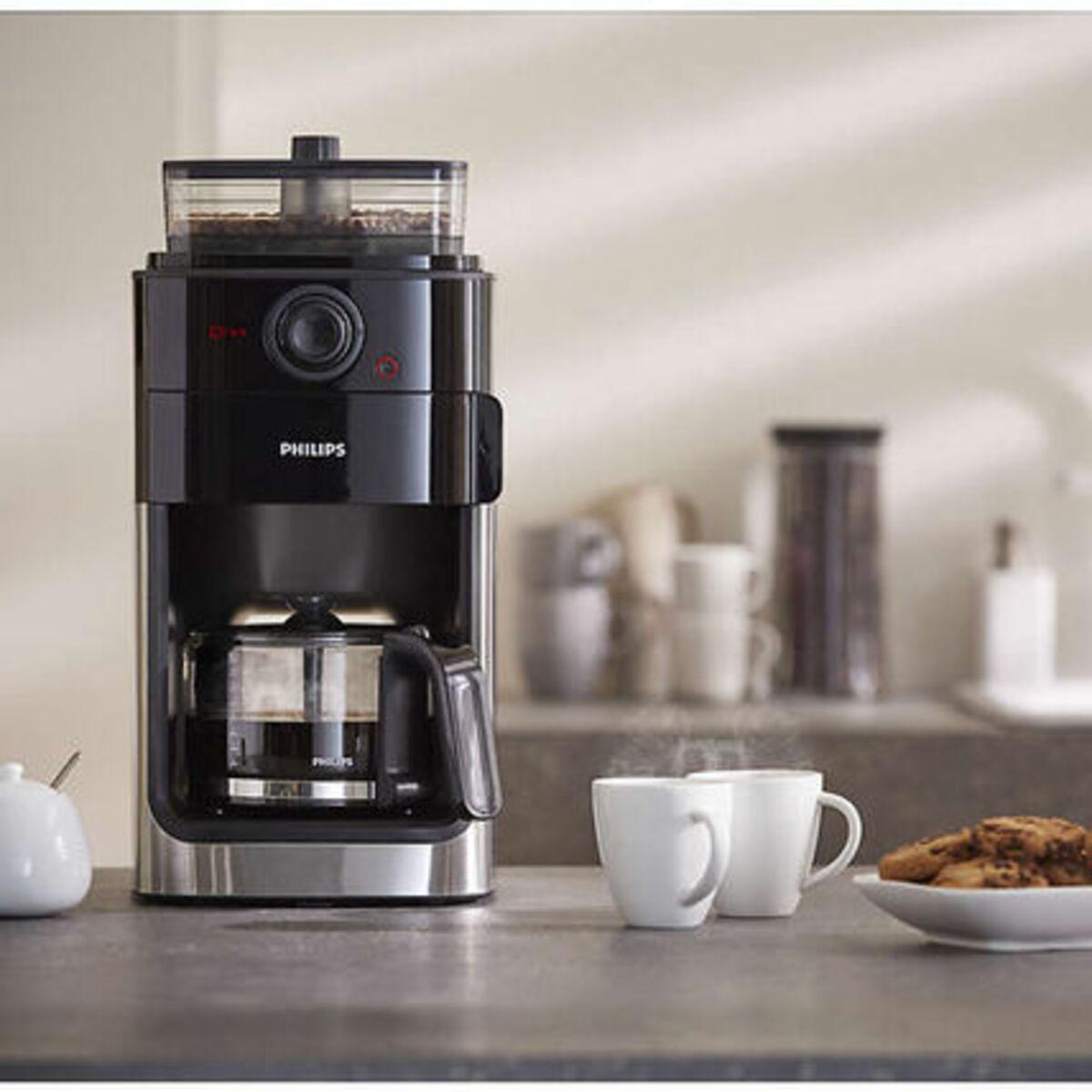 Bild 2 von Philips Kaffeeautomat HD7767/00 mit Mahlwerk, schwarz/silber, schwarz/Metall
