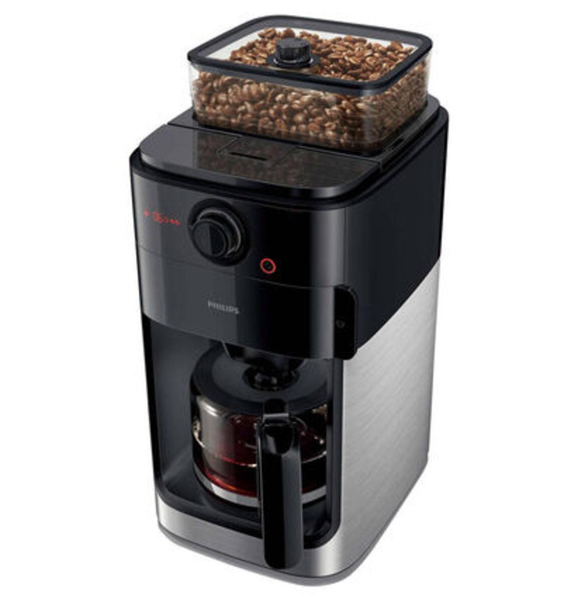 Bild 4 von Philips Kaffeeautomat HD7767/00 mit Mahlwerk, schwarz/silber, schwarz/Metall