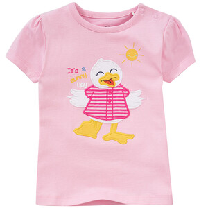 Baby T-Shirt mit Entchen-Applikation