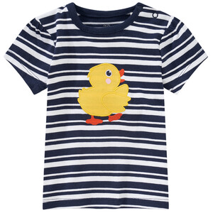 Baby T-Shirt mit Enten-Applikation