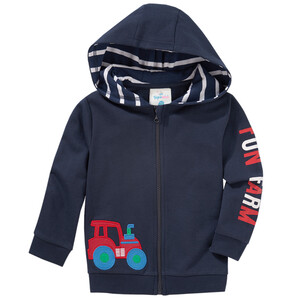 Baby Sweatjacke mit Trecker-Applikation