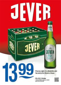Jever Pilsener, Light, Fun alkoholfrei oder Fun alkoholfrei Biermix Zitrone