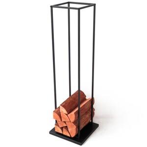Design-Kaminholzständer 118 cm schwarz