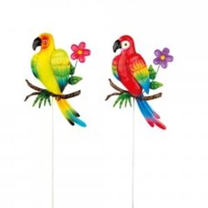 Gartenstecker Papagei