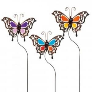 Gartenstecker Schmetterling