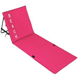 Strandmatte mit verstellbarer Lehne pink
