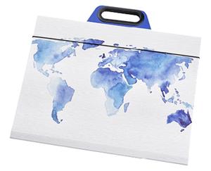 Aquarell-/Zeichen- mappe oder Aquarellblätter mit Einspannplatte