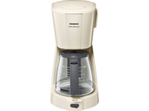 SIEMENS TC3A0307 Kaffeemaschine mit Glaskanne in Creme