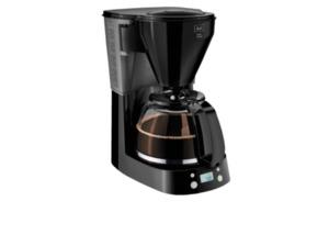 MELITTA 1010-14 Easy Timer Kaffeemaschine mit Glaskanne mit Tassenskalierung am Griff in Schwarz