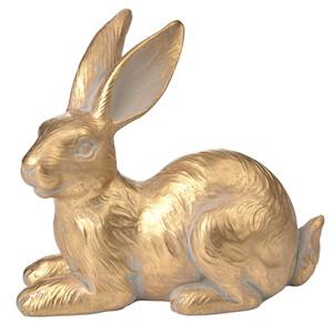 Deko-Hase in Gold-Optik