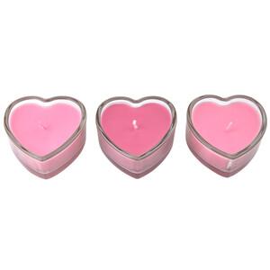 3er Set Teelichter in Herzform