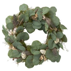 Deko-Kranz mit Eukalyptusblättern