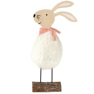 Deko-Figur Hase mit Plüsch