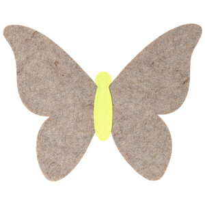 Filzset in Schmetterlingsform