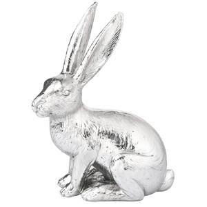 Deko-Hase in Silber-Optik