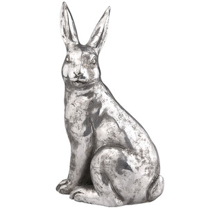 Großer Deko-Hase in antiker Optik