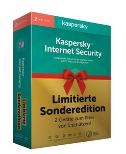 Kaspersky Antivirus Internet Security ,  für 2 Geräte Limited Edtion (Code in a Box)