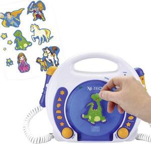 X4 Tech Bobby Joey Kinder CD-Player CD, SD, USB Inkl. Mikrofon Blau
