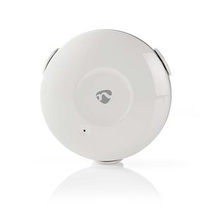 Nedis WLAN Wassermelder (WIFIDW10WT) [batteriebetrieben, kein Hub nötig, Audioalarm, Push-Nachricht)