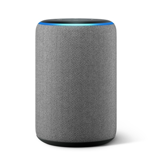 Amazon Echo (3. Generation) smarter Lautsprecher mit Alexa - Hellgrau Stoff