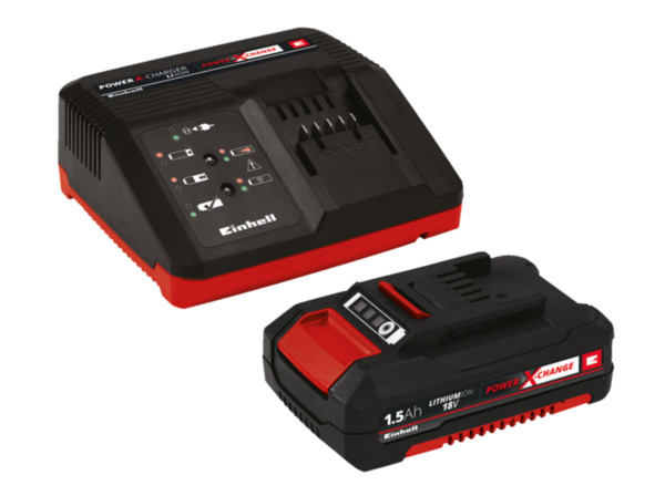 EINHELL 18V 1.5 Ah PXC Starter Kit, Schwarz/Rot