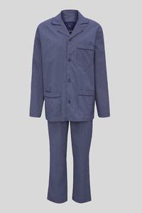 C&A Pyjama-Bio-Baumwolle, Blau, Größe: 3XL