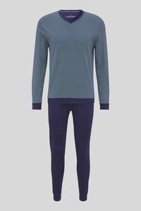 C&A Pyjama-Bio-Baumwolle, Blau, Größe: XXL