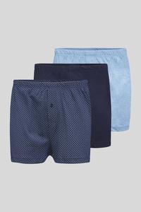 C&A Boxershorts-Bio-Baumwolle-3er Pack, Blau, Größe: XXL