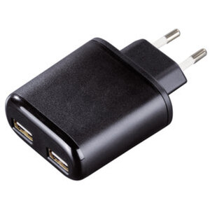 Hama Doppel USB-Netzladegerät        5V/2 X 2400MA