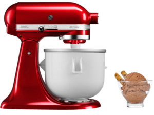 KITCHENAID Bundleicecreamer Eiscreme Set Küchenmaschine + Speiseeismaschine, 300 Watt in Empire Rot