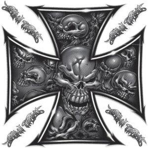 "Aufkleber ""Skull Cross 1""        Maße: 14,7x14,7cm, Stück"