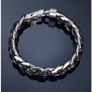"Armband ""Leather And Steel I""        Chirurgenstahl, Länge: 22cm"