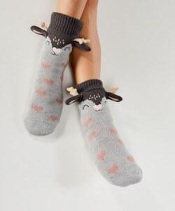 Hunkemöller Slipper-Socken Hert Grau